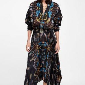 RARE Zara Co-ord Set Chain Bomber Jacket and Skirt